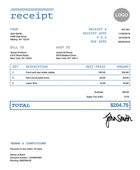 Company Credit Card Acknowledgement Receipt Receipt For Company Credit Card Ace Loss Prevention