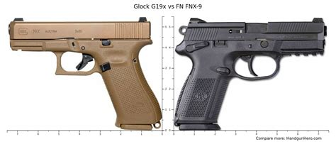 Glock-19 Comparison Of Glock 19 And Fns 9.