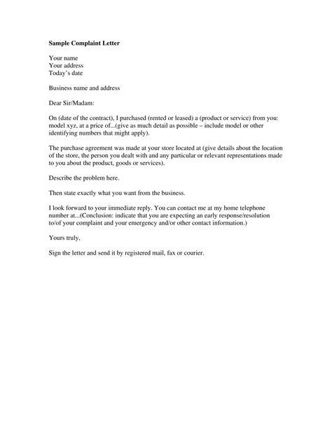Complaint Letter Printing Quality Complaint Letters Sample Letters