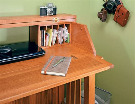 computer desk plans woodworking projects
