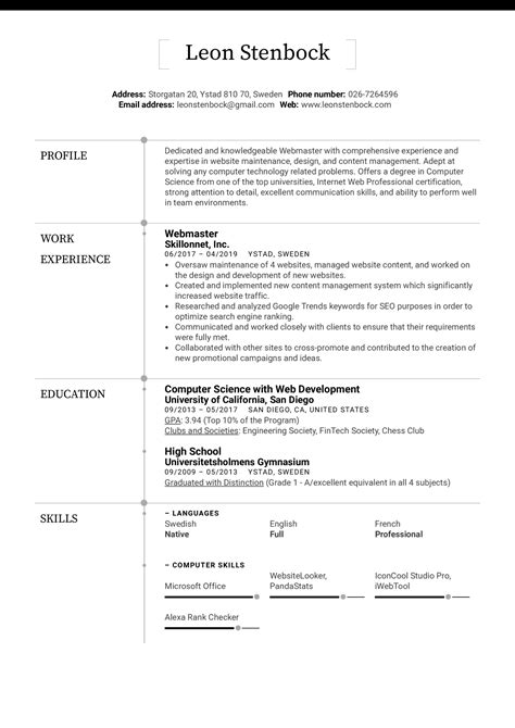 Computer Skills Resume Yahoo Answers 6 Sample Resume For Graduate Students Download Now