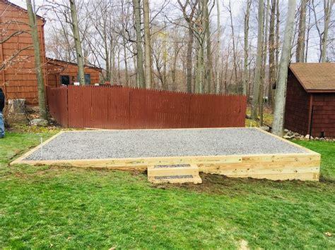 Concrete Base For Garden Shed