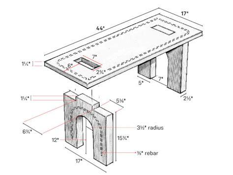Concrete Bench Plans
