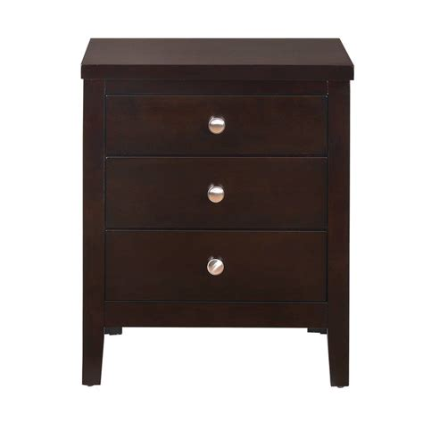 Conrad 3 Drawer Nightstand