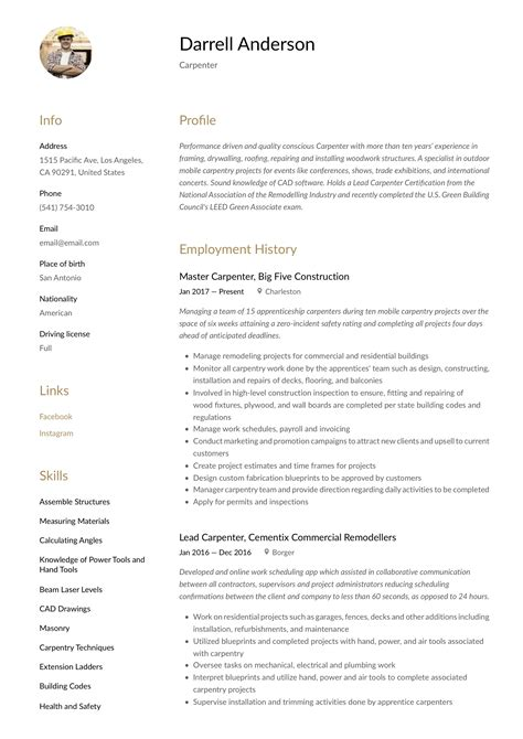 construction carpenter resume construction worker resume sample construction worker - Sample Carpenter Resume