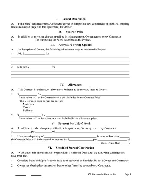 Construction Contract Template Doc