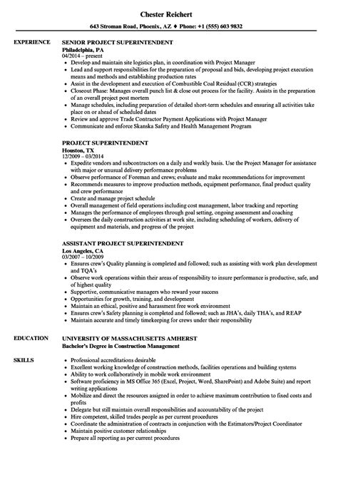 construction resume template construction superintendent resume examples and samples construction resume template construction manager resume sample