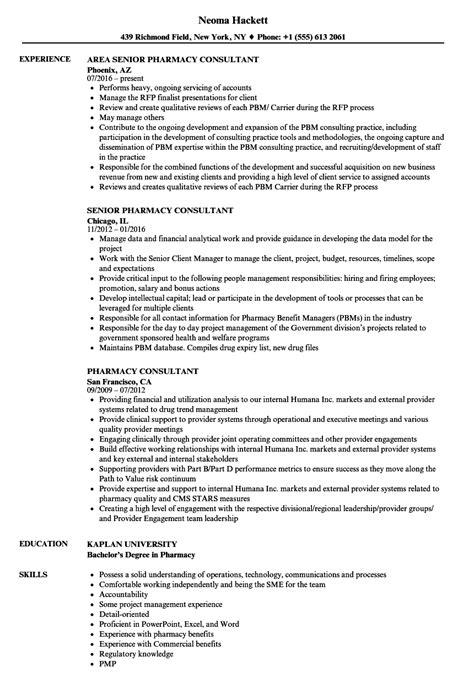 consultant pharmacist resume sample management consultant resume sample - Pharmacist Consultant Resume