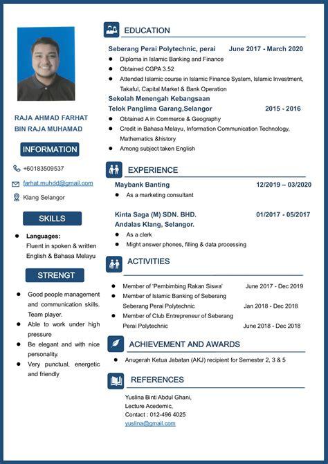 download resume terbaik sample cv statements