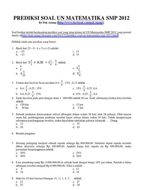 Contoh Soal Cpns 2017 Contoh Soal Un Sma Tentang Akar Info Guru