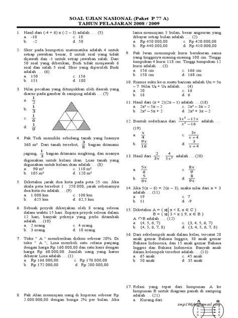 Contoh Soal Cpns 2017 Dan Pembahasannya Informasi Ujian Nasional Tahun Pelajaran 20172018