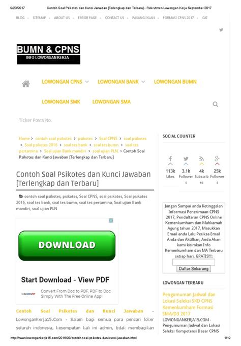 Contoh Soal Cpns Badan Intelijen Nasional Bin 2017  Rekrutmen Bin 2017 Amunionorg