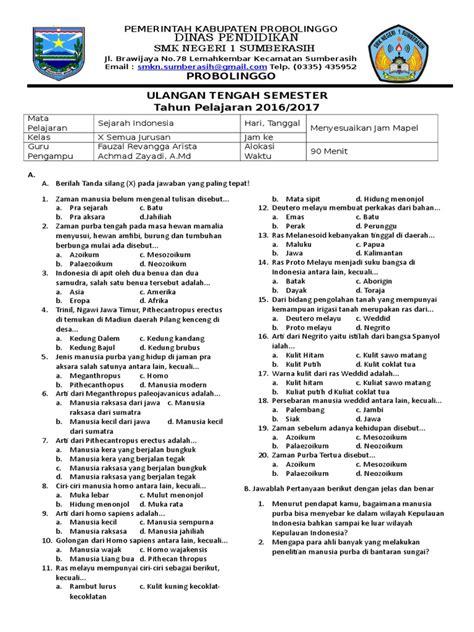 Contoh Soal Cpns Kementerian Pertahanan 2017  Soal Sejarah Indonesia 1 Materi Soal Ujian Cpns