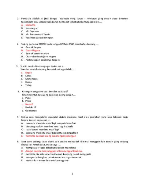 Contoh Soal Cpns 2017 Dan Jawabannya Tes Kompetensi Dasar Materi Soal Ujian Cpns