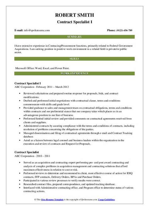 contract specialist cover letters