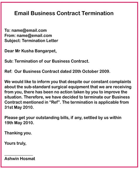 letter of contract non renewal contract termination letter buzzle