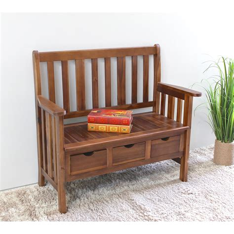 Corbin Acacia Wood Storage Bench