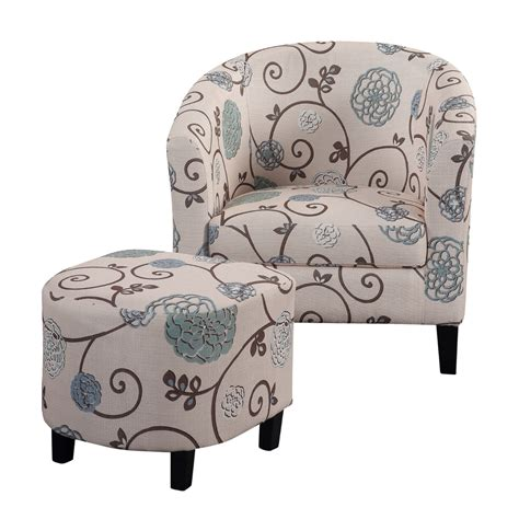 Cordie Barrel Chair and Ottoman