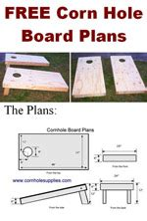 Corn Hole Plans Woodworking Plans