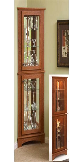 Corner Curio Cabinet Woodworking Plans