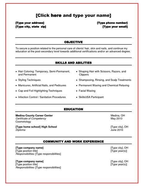 cosmetology resume example recent graduate   application letter ... - Cosmetologist Resume Examples