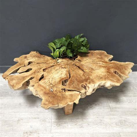 Couchtisch Organisches Design Aus Harz Holz Stein Vesper