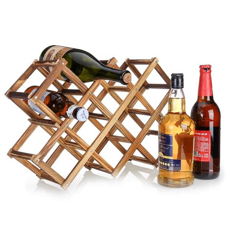 countertop wine racks wood