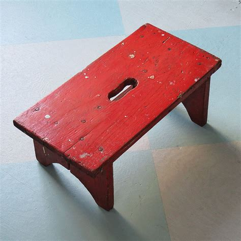 Furniture For Sale Quetta Country Red Wooden Step Stool From Collections Etc