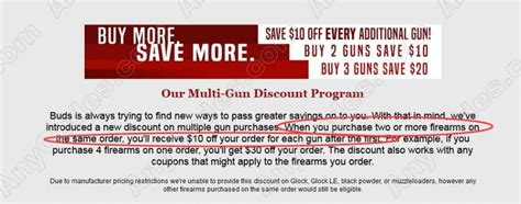 Buds-Gun-Shop Coupon Code For Buds Gun Shop.