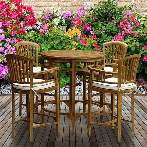 Courtois Patio 5 Piece Bistro Set