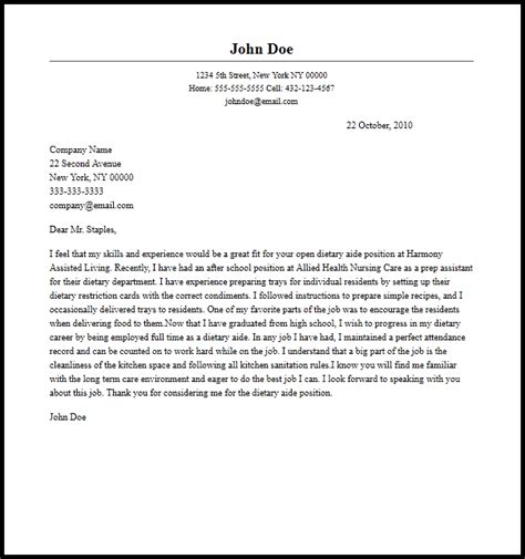 Cover Letter Examples For Home Health Care Karir Previ Us