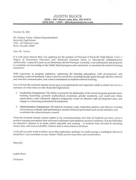 cover letter examples vice principal elementary principal cover letter for resume