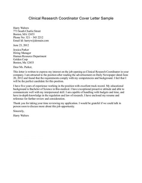 cover letter for an essay