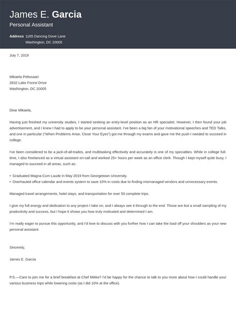 Cover Letter Sales Assistant Fashion Get The Job With Free Professional Cover Letter Templates