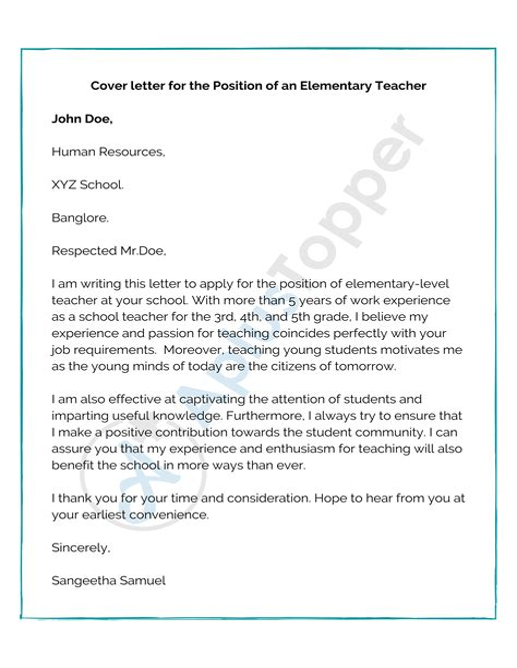 elsevier cover letter