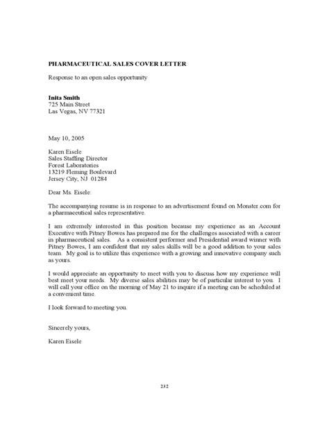 cover letter for resume for pharmaceutical sales pharmaceutical sales resume sample monster - Sample Pharmaceutical Sales Resume Cover Letter