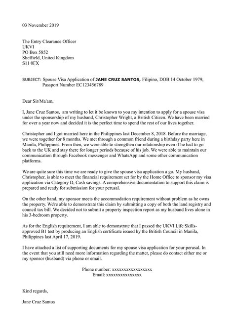 cover letter uk spouse visa spouse visa cover letter visas and migration to other - Covering Letter For Spouse Visa
