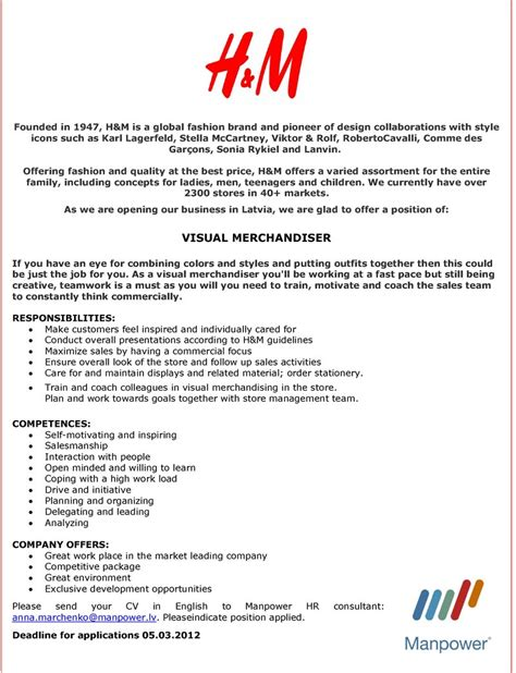 cover letters visual merchandising visual merchandiser resume sample - Visual Merchandising Cover Letter
