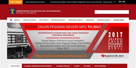 Cpns 2017 Twitter Cpnskemenkumhamgoid Cpns Kementerian Hukum Dan Ham