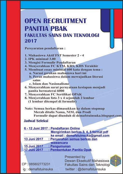 Cpns 2017 Malang Fakultas Sains Dan Teknologi Uin Malang