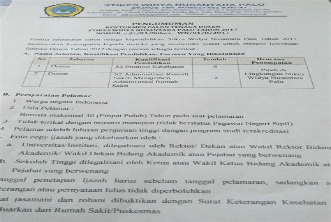 Cpns 2017 Cnn Stikes Widya Nusantara Palu
