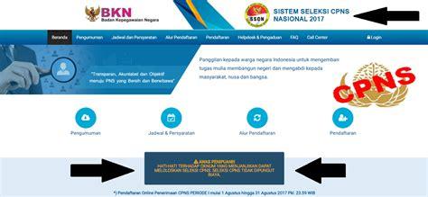 Sscn Bkn Go Id 2017 Kemenkumham Cpns 2017com Info Pendaftaran Penerimaan Cpns 2017