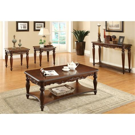 Crabill 4 Piece Coffee Table Set