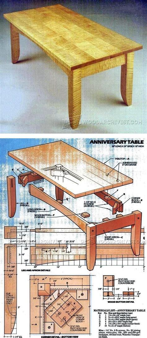 Craftsman Coffee Table Woodworking Plan