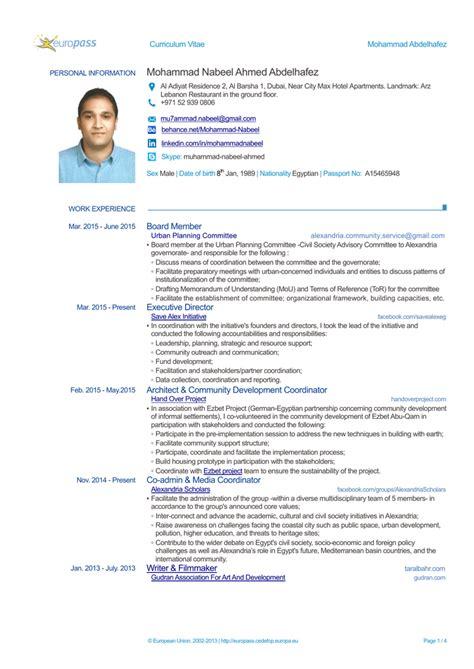create cv europass online cv europass sterreich