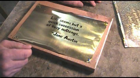 Brass Create Patina On Brass.