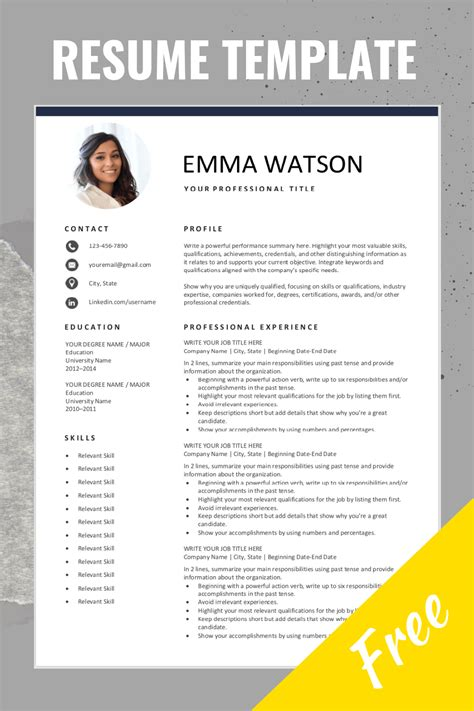 Create Resume Template Online Resume Template Free Online Pdf And Word Doc Cv Builder
