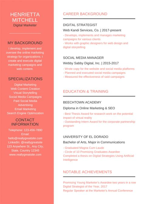 how to write a resume template