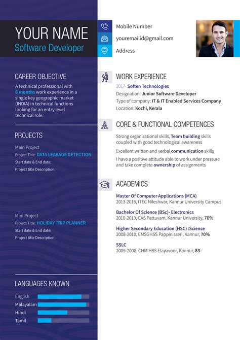 creative resume introductions cv layout european