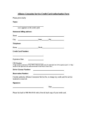 Credit Card Authorization Pdf Credit Card Authorization Form Allen Limo